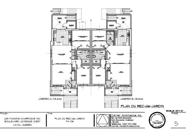 projet triplex boul l vesque ouest chomedey laval projet compl t maisons charplexe. Black Bedroom Furniture Sets. Home Design Ideas
