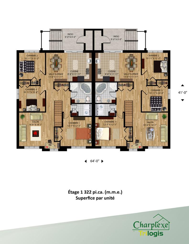 Projet Vimont Laval Rental Maisons Charplexe