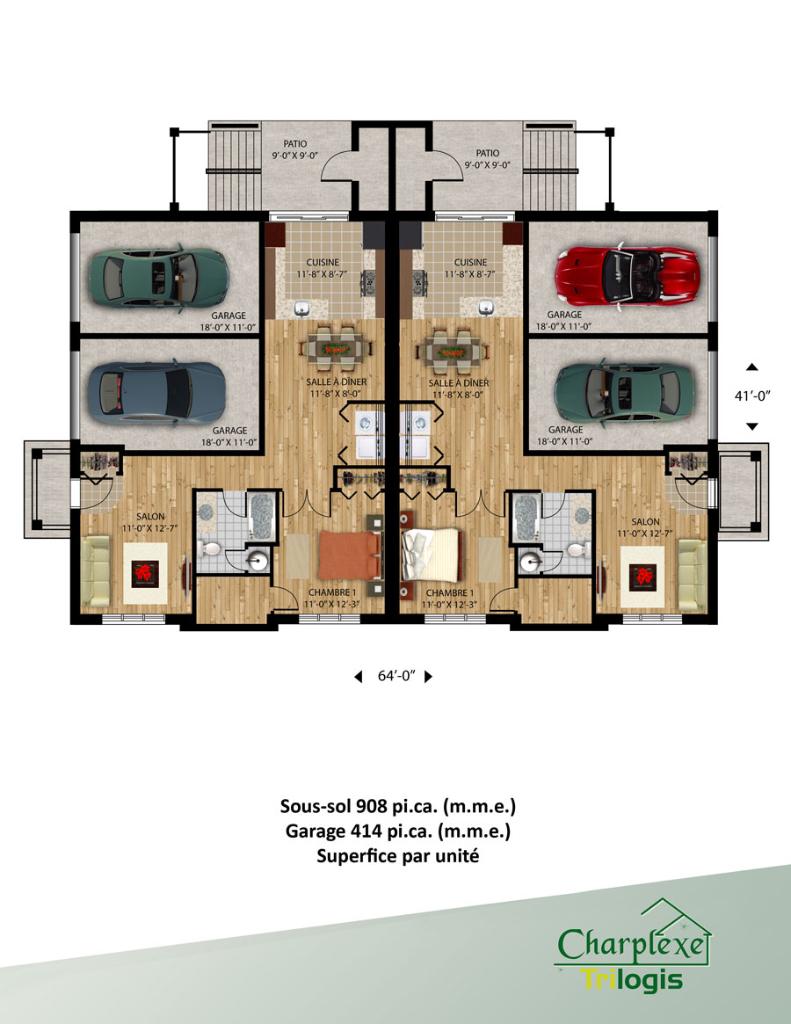 Projet vimont laval location maisons charplexe for Location garage laval